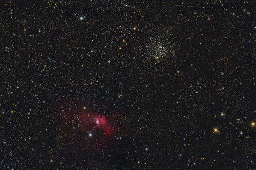 M52 and Bubble Nebula (NGC7635)