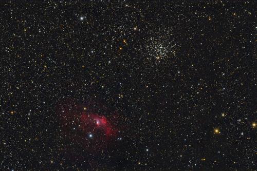 M52 and Bubble Nebula (NGC7635)