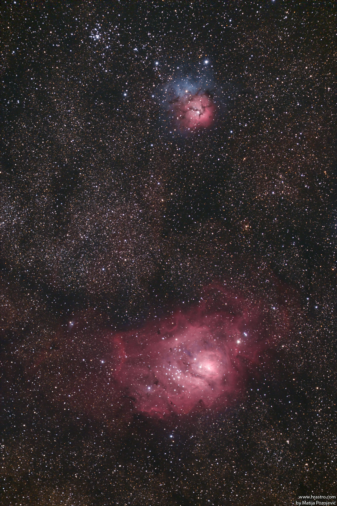 trifid and lagoon nebula - photo #38