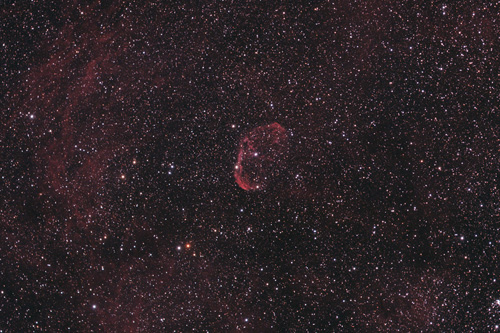Crescent Nebula or Van Gough's Ear Nebula (NGC6888) in Cygnus