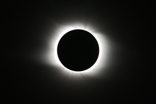 Full solar eclipse 2008 from Novosibirsk