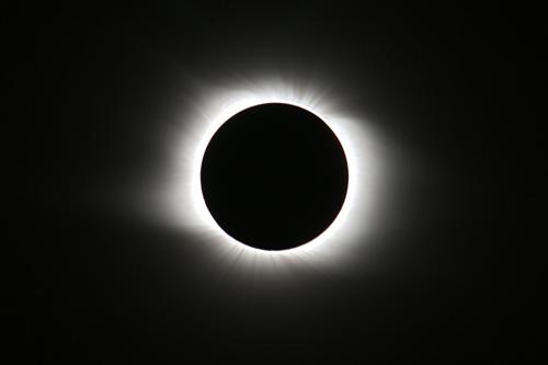 Full solar eclipse 2008 from Novosibirsk