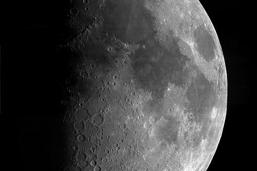 First, quarter, moon